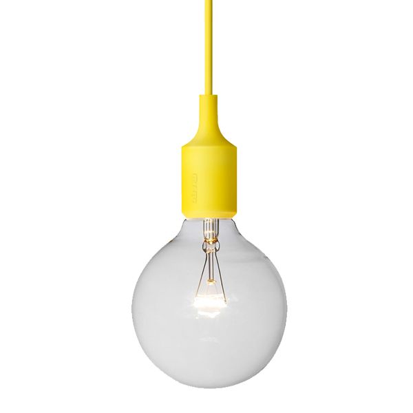E27 socket lamp, yellow