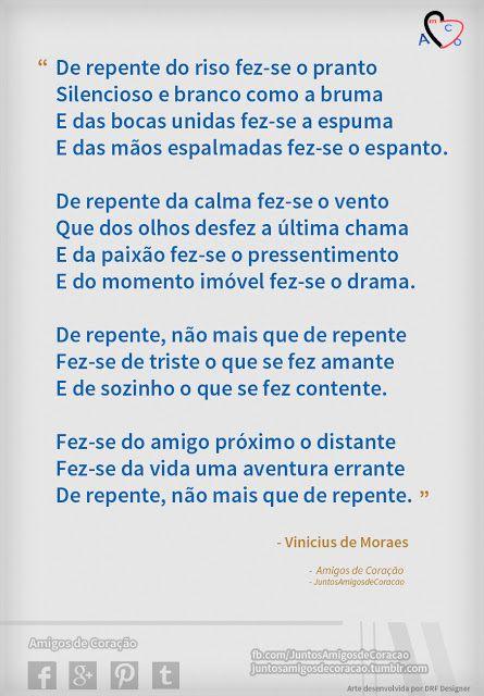 Soneto de Separação - Vinicius de Moraes - AmCo
