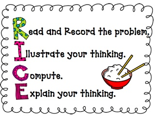 math problems for rice Mnemonic math anchor charts rice will help your students recall the steps in order when solving word problems.