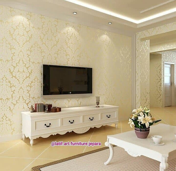 Alluring Living Room Wallpaper Ideas You Might Want To Copy Decortrendy Luxe Living Room Feature Wall Wallpaper Best Living Room Wallpaper