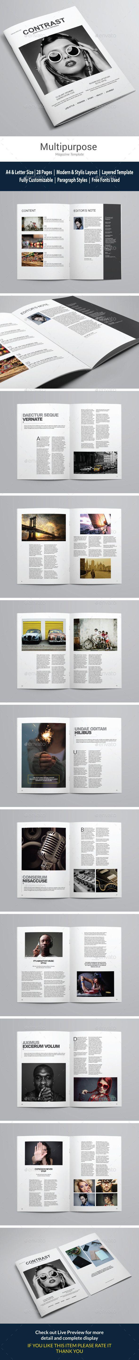 Indesign Clean Magazine Template #design #journal Download: http://graphicriver.net/item/indesign-clean-magazine-vol-1/12804647?ref=ksioks