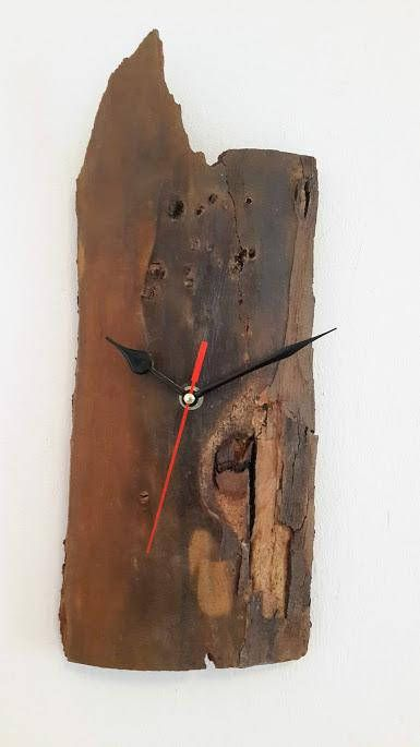 Recycled Wood, Wood Clock, Handmade Wall Clock, Driftwood Clock, Wall Clock, Raw Wood Clock, housewarming gift, Holiday Gifts, Gift for him