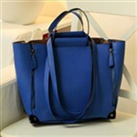 Stylish Handbag Hand Bag + Smaller Sling Shoulder Bag Crossbody Bag for Girl Lady - Blue $43.25