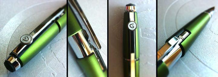 Our new favourite pen! The Cross® Edge stylus pen in octane green with gel ink & a custom die cast Genumark emblem!