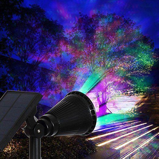 Solar Strahler Lednut 7 Led 320 Lumen 7 Farben Solarbetriebene Scheinwerfer 2 In 1 Verstellbare Gartenleucht Solarleuchten Garten Gartenleuchten Solarleuchten