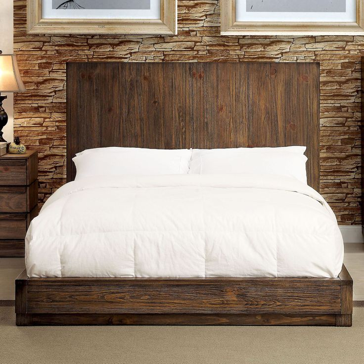 furniture of america remings industrial tone low profile bed - Rustic Furniture Outlet