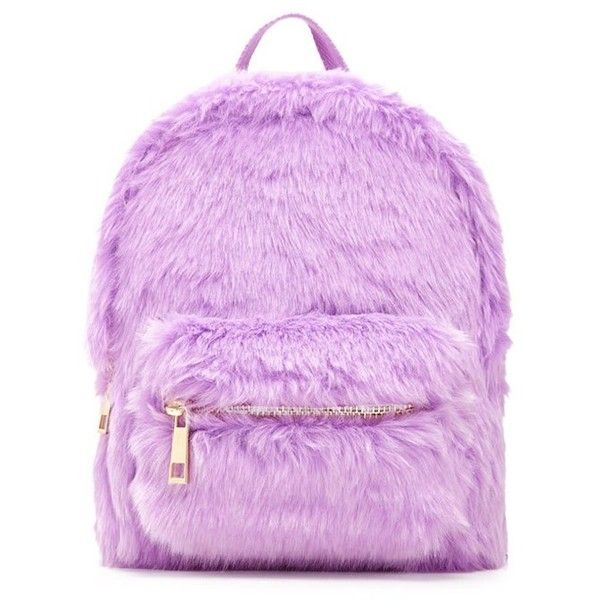 Forever21 Faux Fur Mini Backpack ( 20) ❤ liked on Polyvore featuring bags,  backpacks, purple, forever 21, pink backpack, mini rucksa… 8182b7e5ef