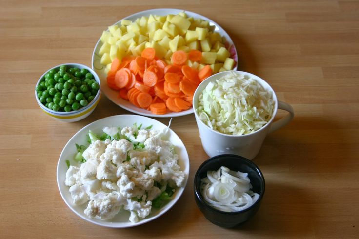 pieces of pics : The vegetable soup, easy!