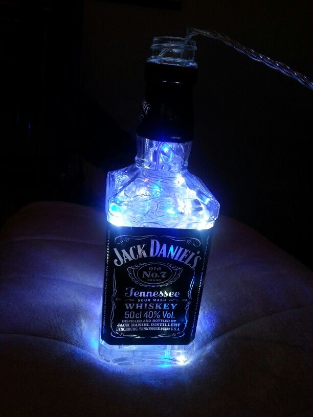 Jack Daniels Bottle With Fairy Lights Decorations