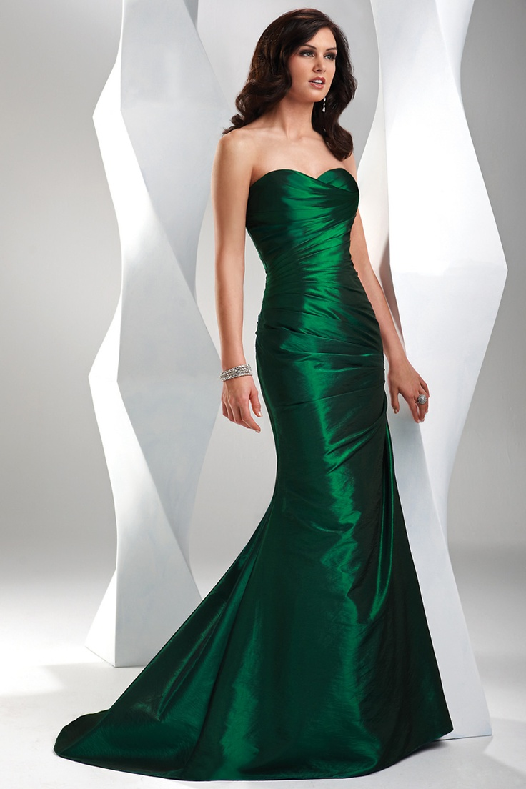 Graceful Sexy Green Trumpet Mermaid Sweetheart Sweep Brush Train Satin Prom Dress Vestidos