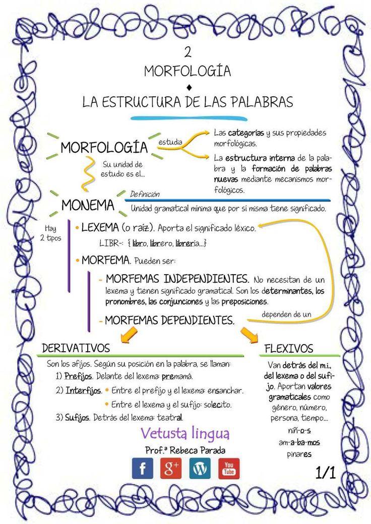 La morfología. La estructura interna de las palabras.