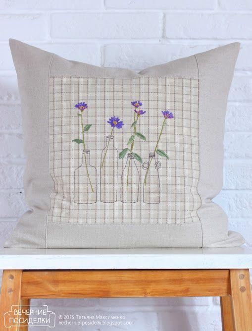 Цветочная подушка / Pillow with flowers (Вечерние посиделки)