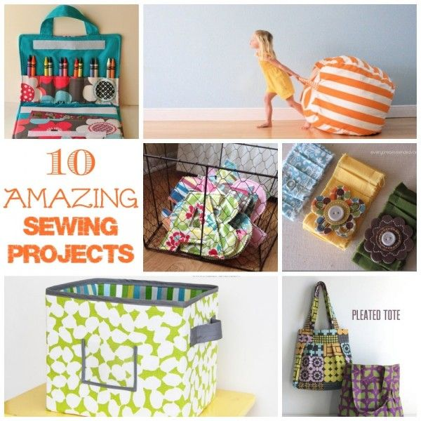 A collection of 10 amazing sewing projects for your home, your kids and you!: 10 Amazing, Sewing Rooms Projects, Sewing Projects, Diy Crafts Sewing, 10 Sewing, Amazing Sewing, Sewing Tutorials, Sewing Fun, Sewing Kids