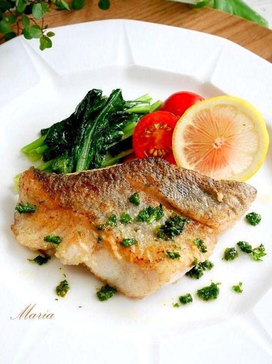 「白身魚 ムニエル 盛り付け」の画像検索結果
