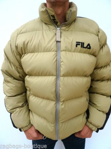 Mens-FILA-Vintage-Retro-OVERFILL-FEATHER-FILLED-PUFFA-JACKET-Size-LARGE