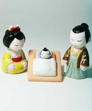 Japanese Nativity Set - photo from notreperenotremere