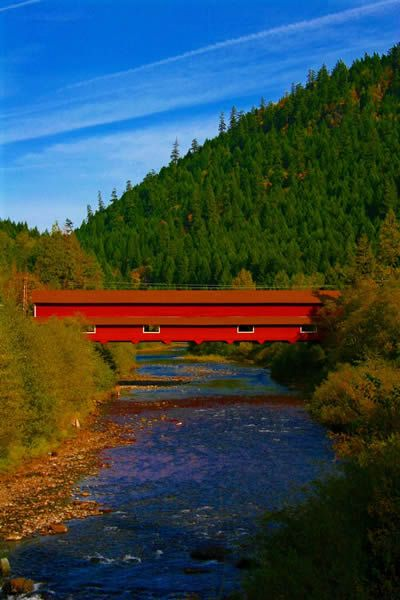 Lane county covered Bridge in Oregon found on highonadventure.com