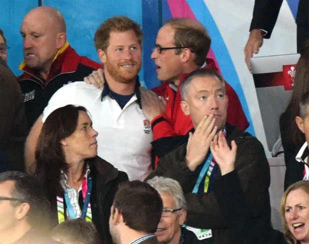 Prince William, Harry on different sides at England v Wales Rugby World Cup match | Stuff.co.nz