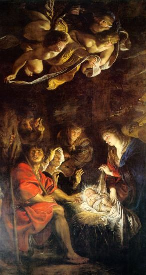 Adoration of the Shepherds  Peter Paul Rubens -   Pinacoteca Civica , Fermo - Marche, Italy