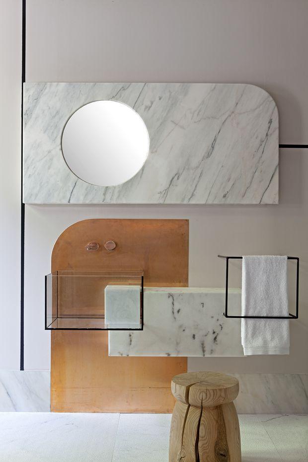 Mueble de baño de Pepe Leal para la Embajada de Portugal Casa Decor 2016