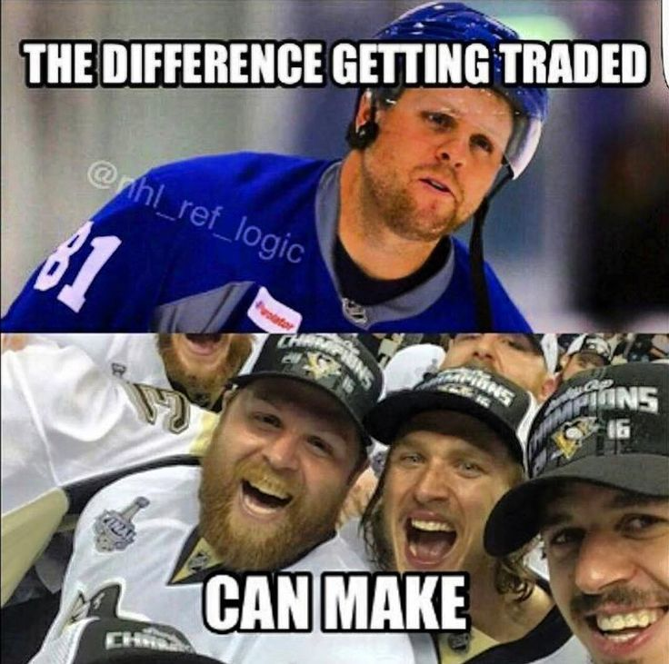 Ha yes! He went from a city that blamed him for their mistakes to a city where he became a champ! The best city and team ever! Let's Go Pens!
