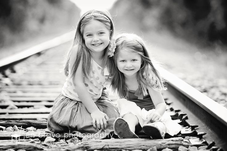 kids on train tracks photography | April 30, 2012 Posted in Family and Big Kid Photography