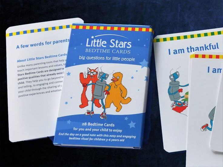 Bedtime bonding - peaceful parenting - Little Stars Bedtime Cards