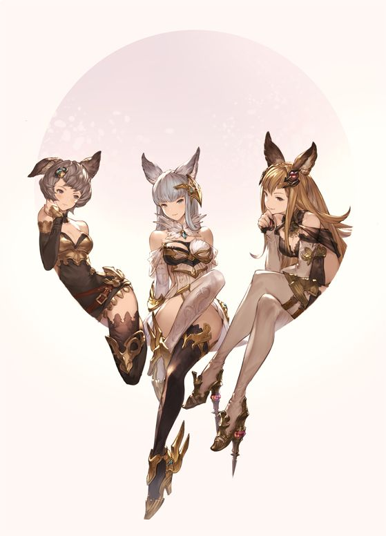first two P and one on right is D  cosplay team (girl in middle is the ring leader)  friends with shifter  normally close clique at school kinda closed off.