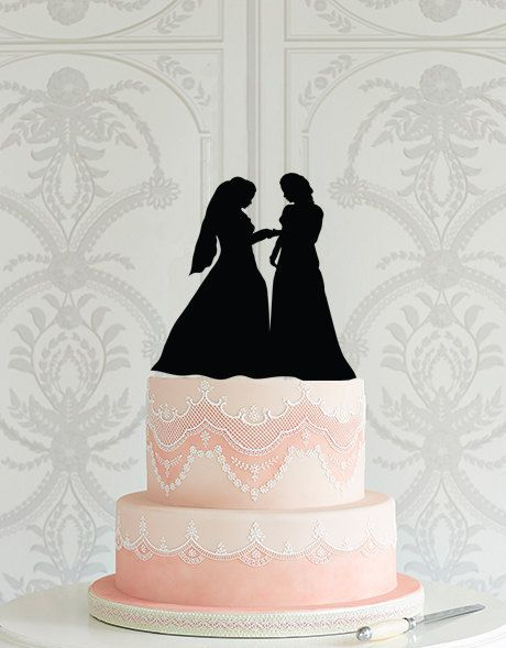 Lesbian Wedding Cake Topper Mrs Mrs same sex wedding decor ideas gay wedding laser cut cake topper