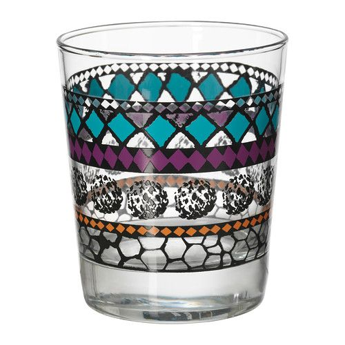 MURKLA Glass, patterned multicolor