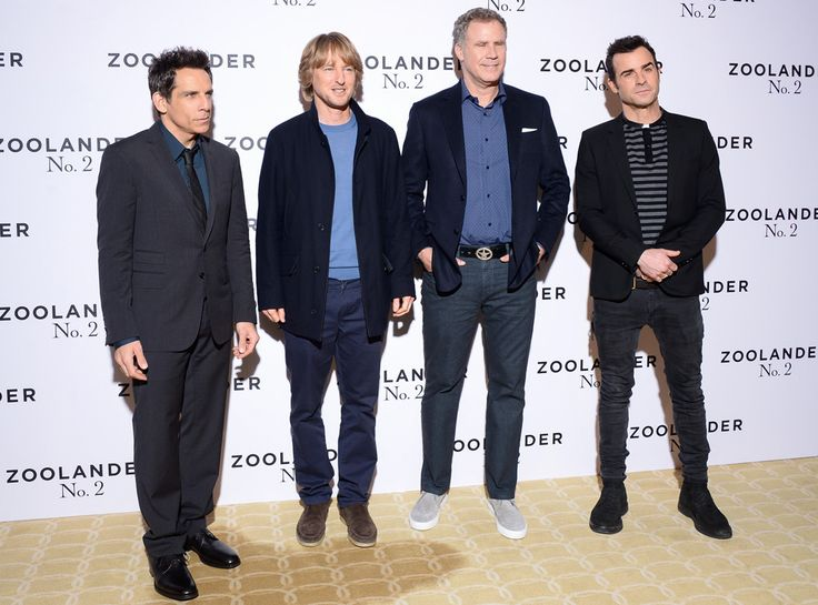 Zoolander N. 2 Photocall from Party Pics: Global  Ben Stiller, Owen Wilson, Will Ferrell and Justin Theroux strike a pose at Hotel Plaza Athenee in Paris.