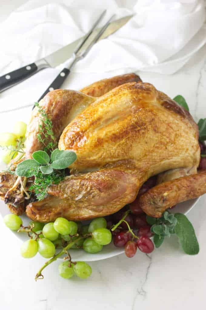 Brine Roasted Turkey Recipe Roasted Turkey Vegetarian Main Dishes Easy Dinner Recipes
