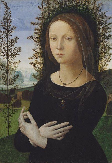 Portrait of a Woman, ca. 1490–1500  Lorenzo di Credi (Italian, Florentine, ca. 1456–1536)  Oil on panel