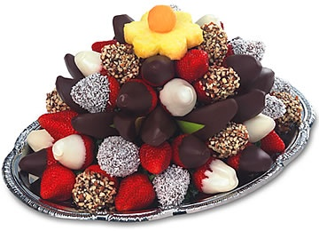 how to make edible chocolate dipped fruit arrangements