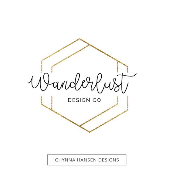 Gold Geometric Logo  Business Branding  by ChynnaHansenDesigns