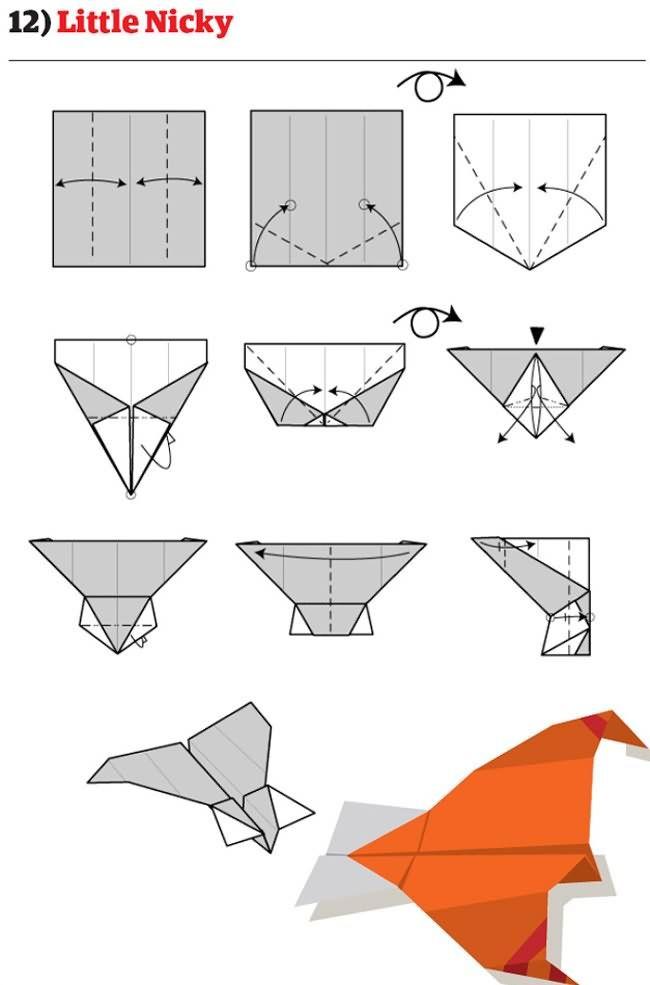 12 instructions pour plier des avions en papier originaux