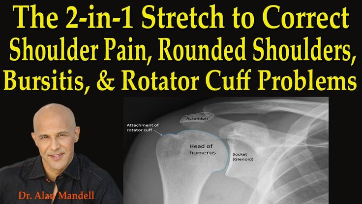 2-in-1 Stretch to Correct Shoulder Pain, Rounded Shoulders, Bursitis, Ro...