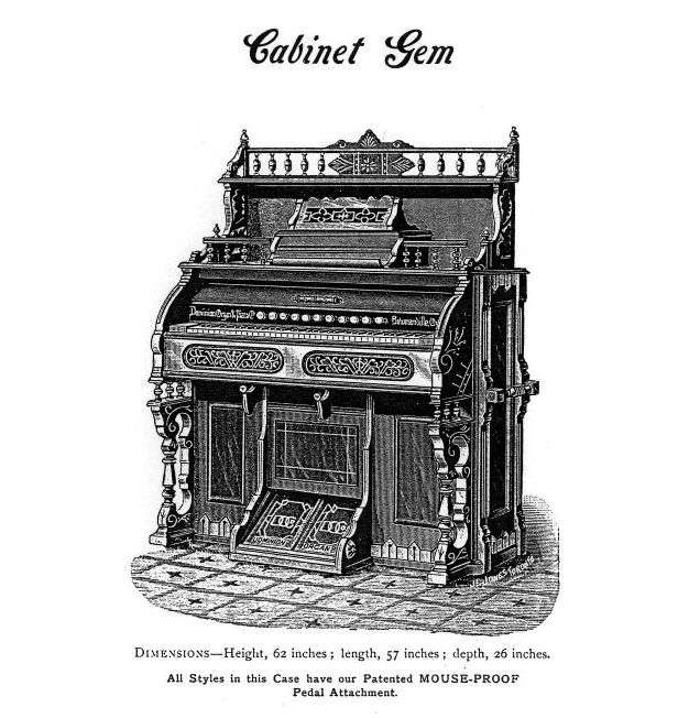 Dominion 1891 - 1M Reed Organ. Cabinet Gem