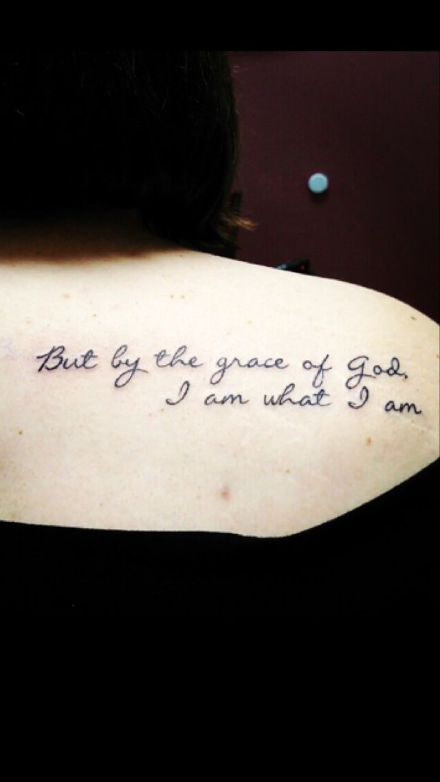 I Am What I Am Tattoo : tattoo, Grace, #tattoo, Tattoo, Quotes,, Tattoos,, Graceful