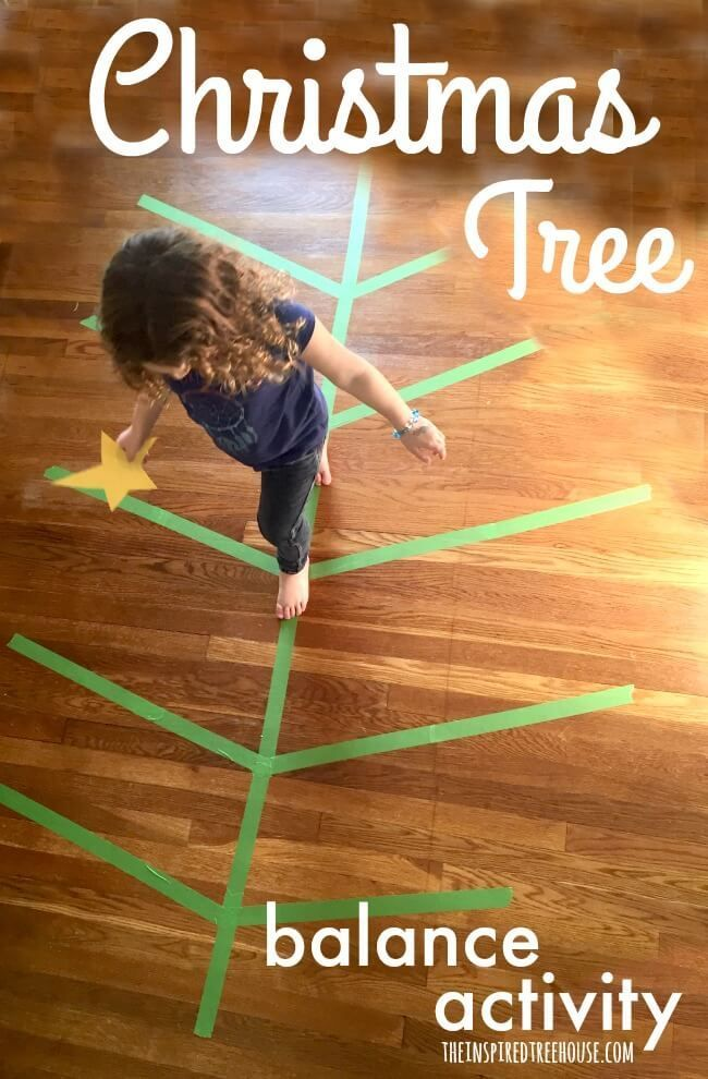 Christmas Activities: Christmas Tree Balance Activity