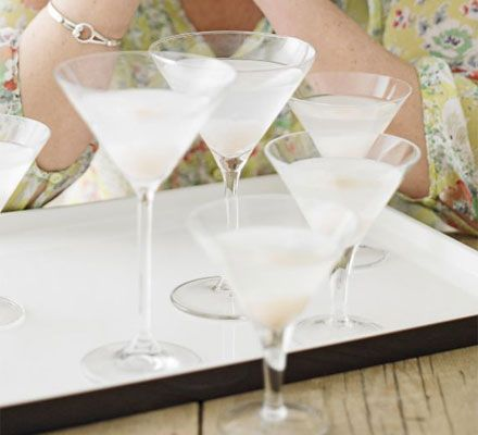 Lychee & pear martinis | BBC Good Food