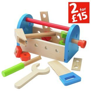 Buy Chad Valley Wooden Tool Box at Argos.co.uk, visit Argos.co.uk to shop online for Building role play, 2 for 15 pounds on Toys, Wooden toys