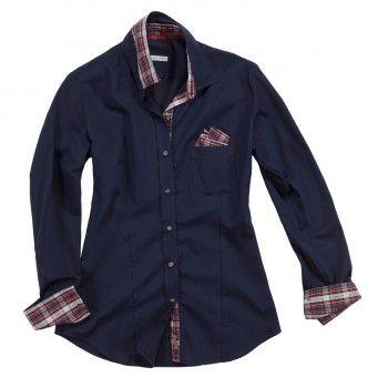 Camicia blue notte con tessuto interno a quadri. Seguici anche su                           www.redisrappresentanze.it