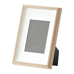 IKEA - MOSSEBO, Frame, 21x30 cm, , You can choose to frame your picture in different ways; close to the front or behind the box frame insert to add depth. And with or without the accompanying mount.Can be used hanging or standing, both horizontally and vertically, to fit in the space available.PH-neutral mount; will not discolour the picture.Can also be used without mount, to take a larger picture.Front protection in durable plastic makes the frame safer to use.