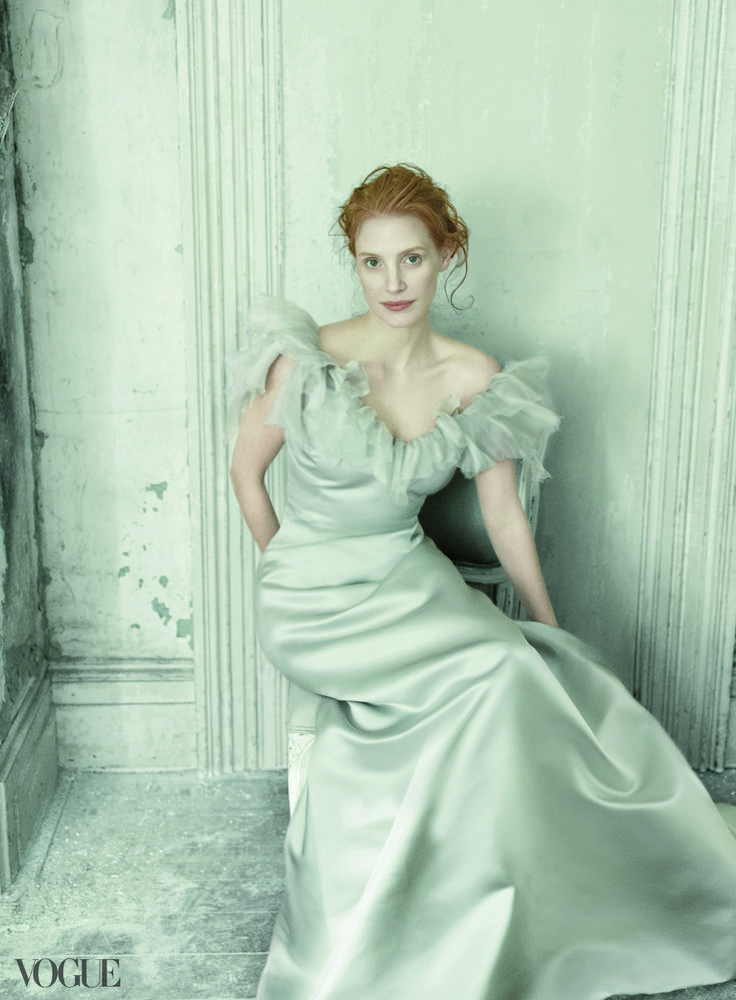 Jessica Chastain | oscar de la renta dress
