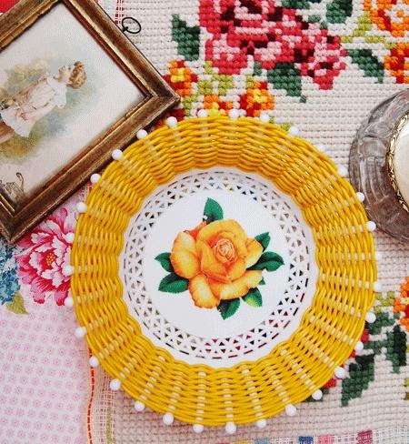 Pretty Yellow Plastic Basket