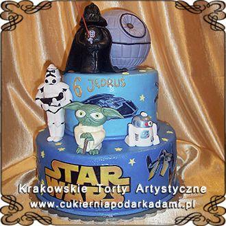 077. Piętrowy tort Gwiezdne Wojny. Star Wars cake.