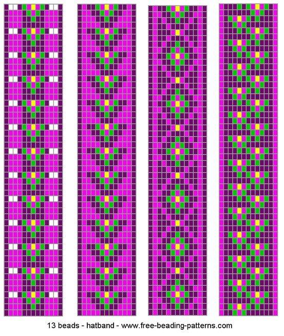 loom beading- headband designs