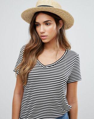 Vero Moda Ribbon Straw Hat