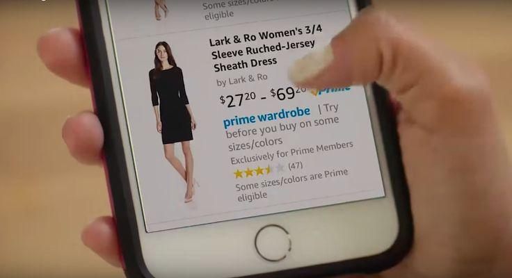 """Amazon lancia """"Prime Wardrobe"""": l'abbigliamento potrà essere provato prima dell'acquisto https://www.sapereweb.it/amazon-lancia-prime-wardrobe-labbigliamento-potra-essere-provato-prima-dellacquisto/        Dopo l'annuncio dell'acquisto della celebre catena Whole Foods, Amazon punta ora a rivoluzionare il mondo dello shopping online. Da pioniere dell'e-commerce, infatti, il colosso americano ha introdotto """"Prime Wardrobe"""", un servizio che permette di prova"""
